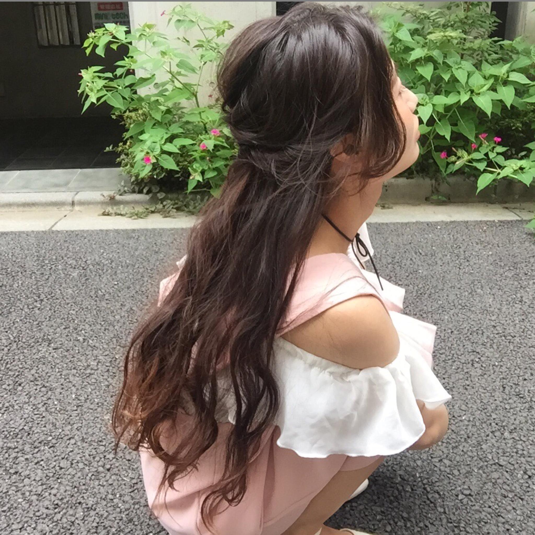 今年の夏はオールインワン、ロンパが可愛い♡ベビーピンクとオフショルで色付けスタイリング♡#代々木公園