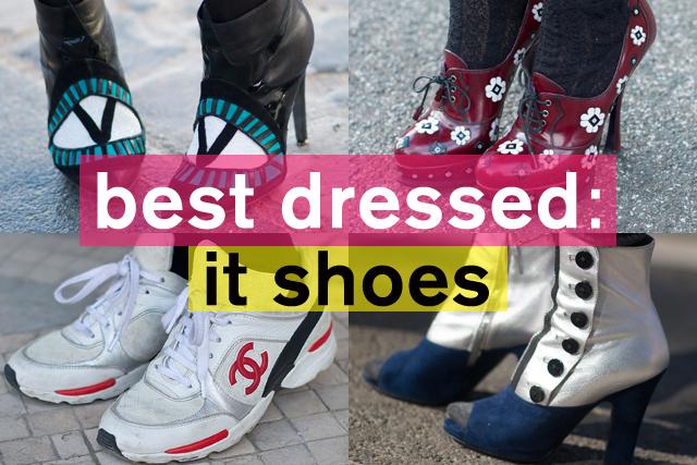 ストリートでキャッチーなファッショニスタのit shoes特集