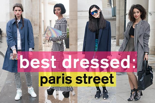 モードな着こなしに注目! パリコレクション中のストリートスタイル特集