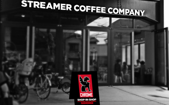 CHROMEのショップインショップがSTREAMER COFFEE COMPANY五本木店にて期間限定オープン!