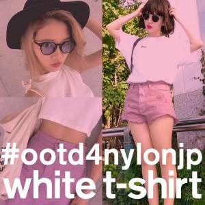 白Tシャツが主役のエフォートレスなシンプルスタイル
