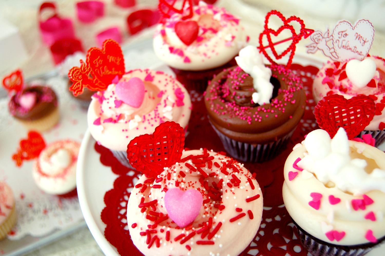 バレンタインパーティのお供に♡ マグノリアベーカリーのラブリーなカップケーキ
