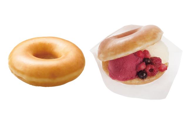 ドーナツに冷たいアイスとジェラートをサンド♡ 新感覚デザートが新登場!