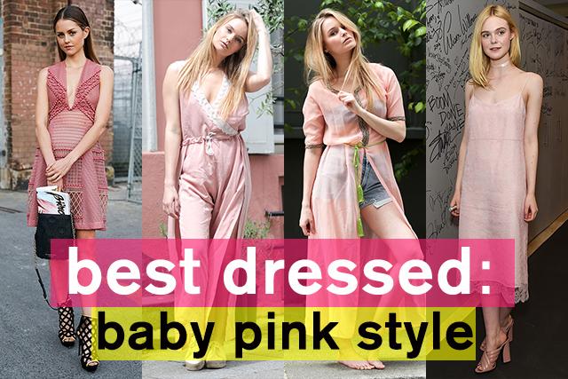 モードな可愛らしさを狙って! ベビーピンクスタイル特集