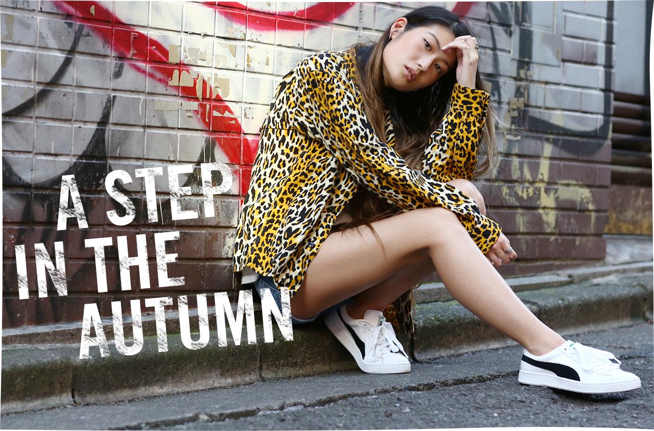 秋ファッションを軽やかに仕上げる シンプル&クリーンなPUMA BASKETに注目