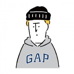 Gap日本上陸20周年! 長場雄とコラボした無料LINEスタンプにほっこり♡