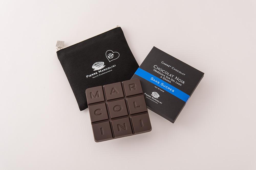 ピエール マルコリーニのバレンタインチョコはカカオの風味が引き立つタブレットタイプ