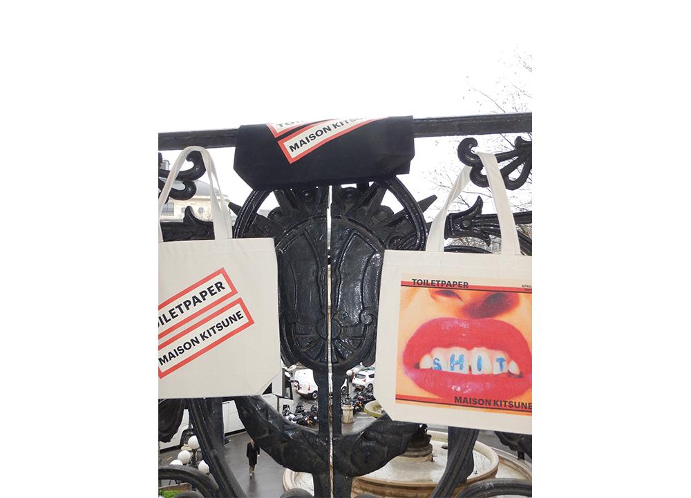 MAISON KITSUNÉが気鋭アート雑誌「TOILETPAPER」とのコラボコレクションをローンチ