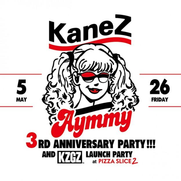 KaneZがPIZZA SLICE2で3周年アニバーサリーパーティを開催