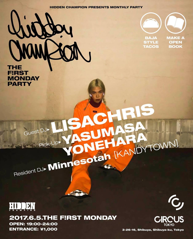 KANDYTOWNのDJ MINNESOTAHが出演!カルチャーマガジンHIDDEN CHAMPIONが6/5からマンスリーパーティをCircus Tokyoで開催