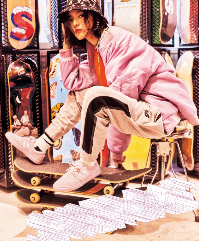 藤井萩花が履きこなす new balanceの SKATE STYLE
