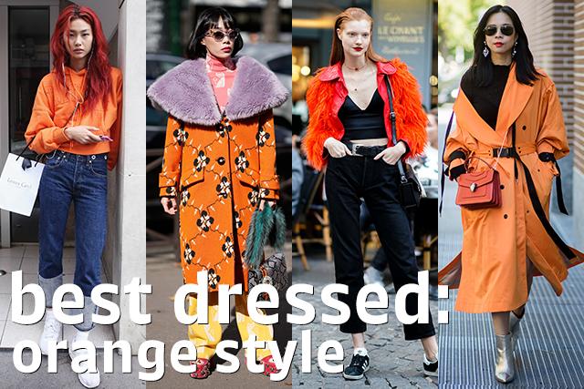 鮮度高めなスタイルに! オレンジスタイル特集