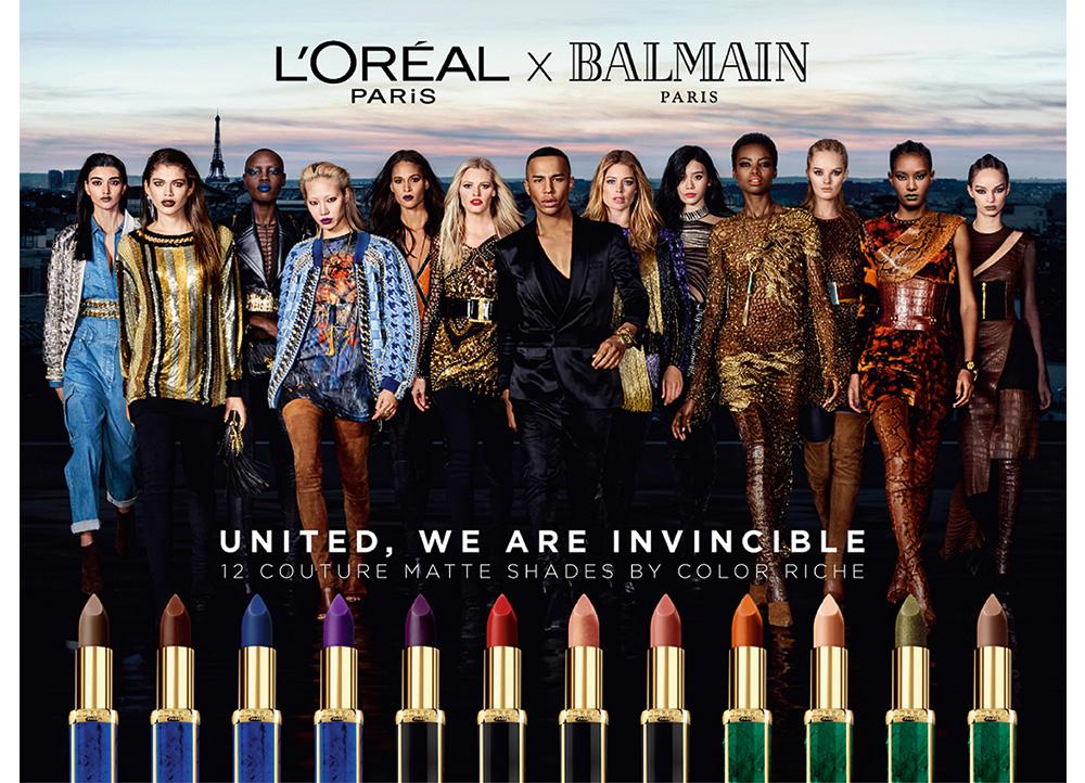 パリを代表する2ブランドがコラボレーション! ロレアル パリ×バルマンによるオンライン限定リップが登場