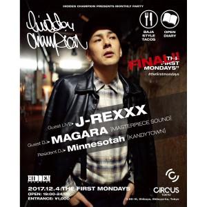 ファッション&音楽のカルチャーが交差するマンスリーイベント「THE FIRST MONDAY」ファイナルが12/4にCircus Tokyoにて開催