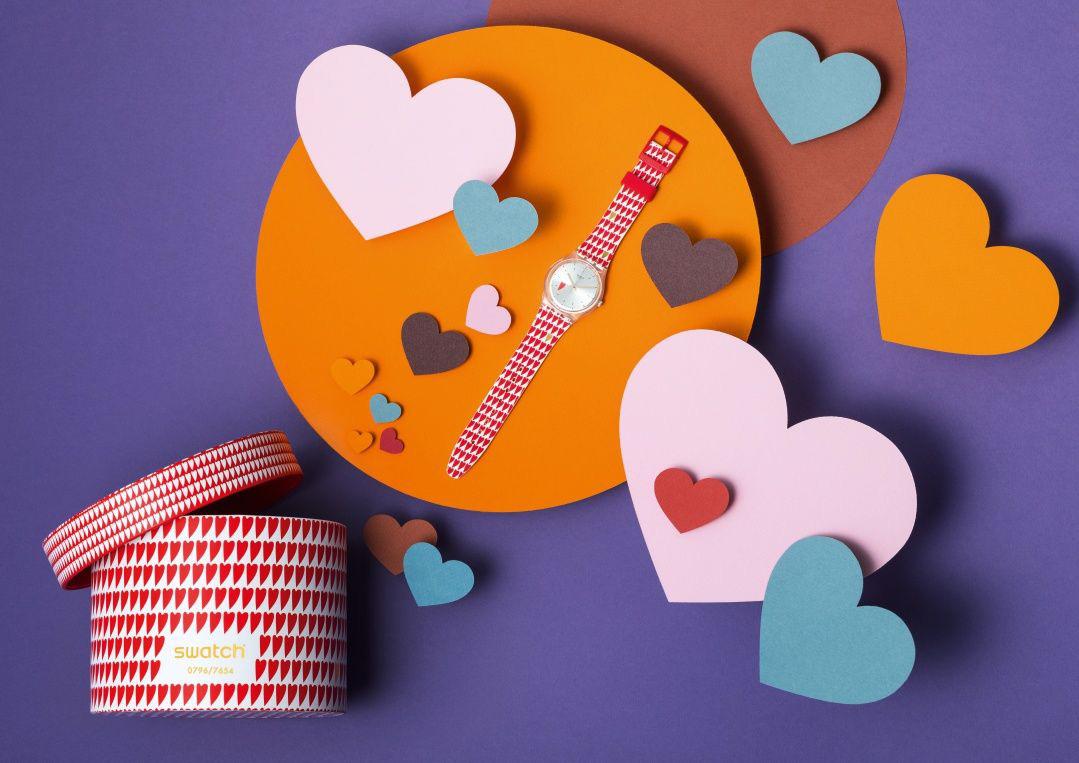 スウォッチからバレンタインモデル発売♡  ラブリーなハート柄の腕時計が数量限定で登場