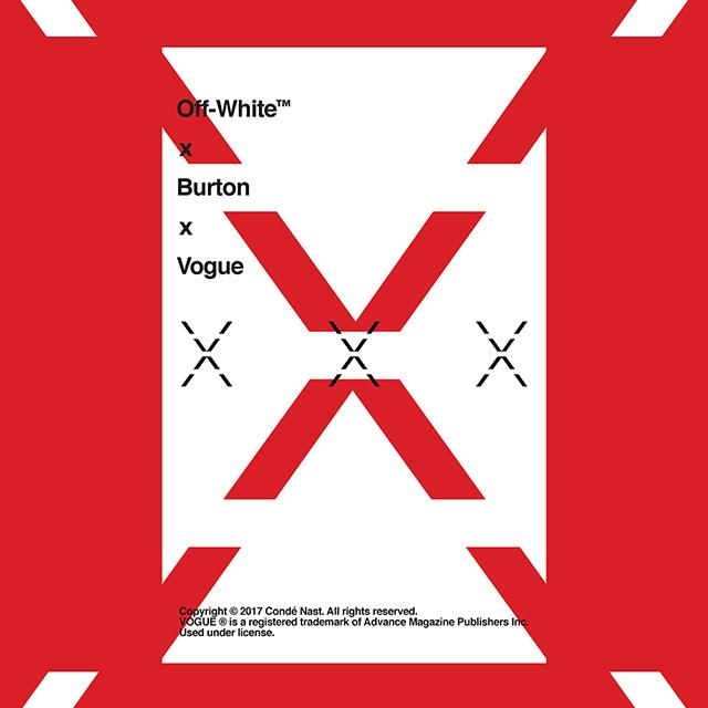 Off-White x Burton x Vogueのコラボレーションアイテムが日本で販売開始