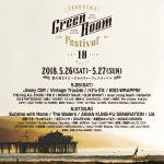 今年もビーチカルチャーフェス GREENROOM FESTIVAL'18の開催が決定!