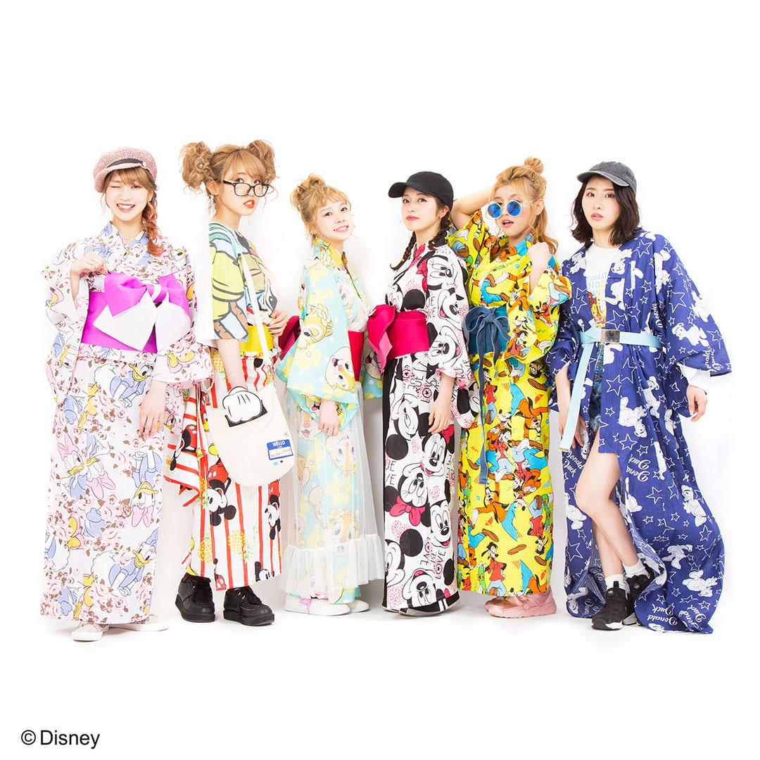 パニカム トーキョーからかわいいディズニーキャラクターデザインの浴衣が登場♡