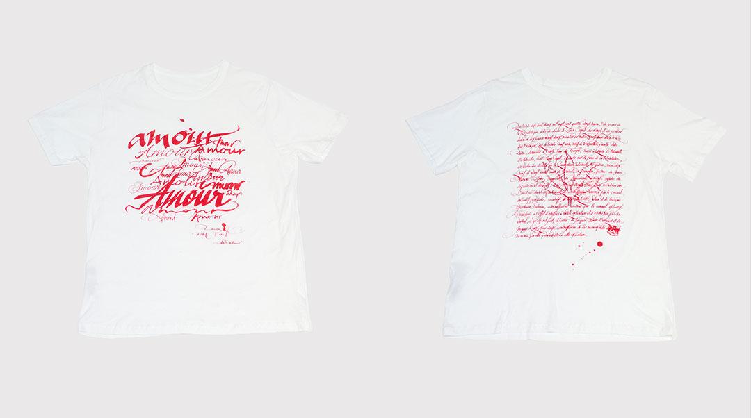 ルシアン ペラフィネ×カリグラファー 二コラ・ウシュニールによるコラボTシャツが登場!