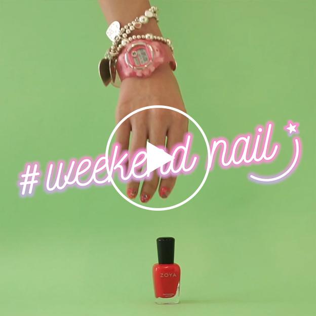 週末はエクスクルーシヴなデザインにチェンジ! 簡単キュートなWEEKENDネイル #106 red punch