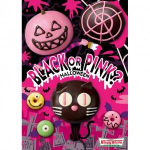 """クリスピー・クリーム・ドーナツからハロウィンの定番キャラクターが""""ブラック×ピンク""""になって登場♡"""