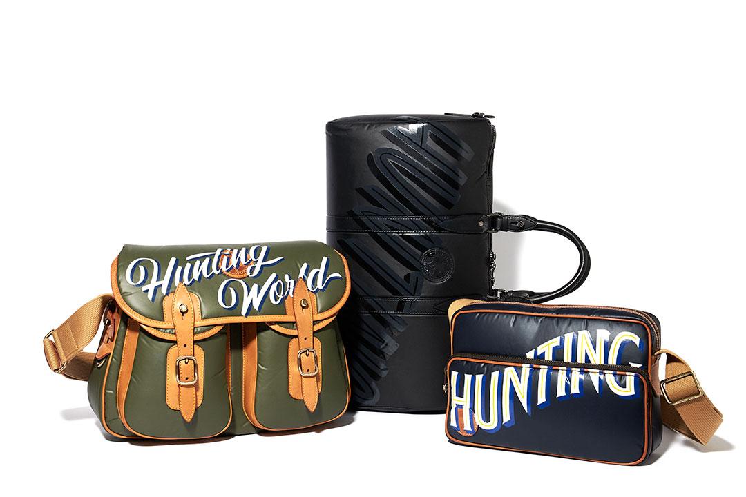 HUNTING WORLDの人気バッグにサインペイントが施された新作が登場!
