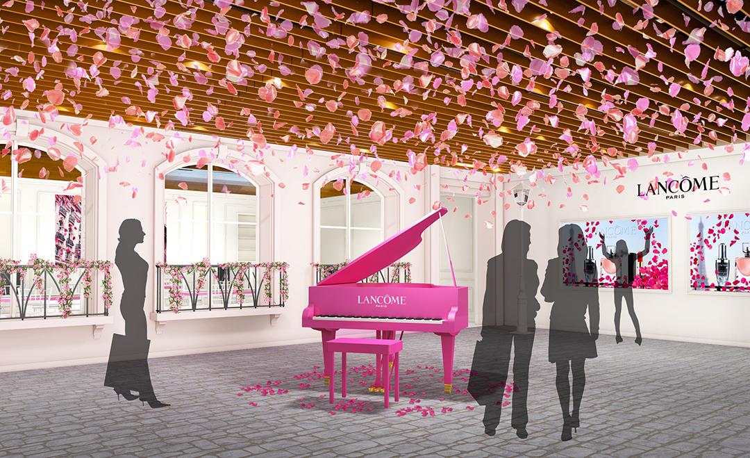 ローズに彩られたパリの街が出現!? 4日間限定のランコム ハピネス サロンが六本木ヒルズにオープン