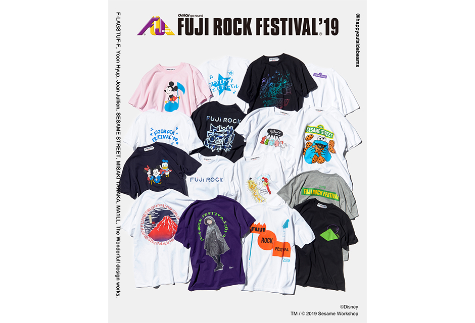 BEAMSのオフィシャルTシャツでFUJI ROCK FESTIVAL'19に向けて準備を!