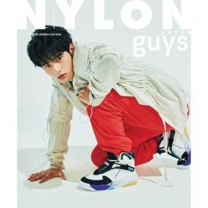 NYLON JAPAN 8/28発売10月号 とことんストリートに染まった《岡田健史》が NYLON GUYS 表紙に堂々登場