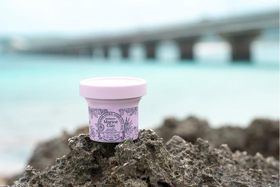 沖縄海底泥の吸着力でスッキリ! 美白モチ肌マリンクレイ洗顔石鹸