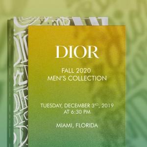 マイアミからライブ配信! Diorフォール 2020 メンズ ファッションショー