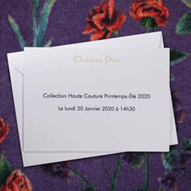 パリからライヴ配信! Dior ウィメンズ オートクチュールショー