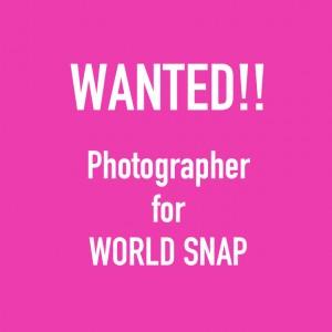 WORLD SNAPを撮影してくれるフォトグラファーを大募集♡