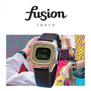 ALBAから80sのデザインがキュートなデジタルウォッチ fusionが登場♡