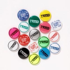 選挙へ行ってVERDYデザインのスペシャル缶バッチをGET!