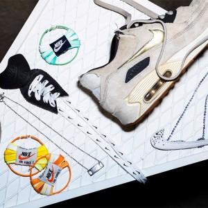 NIKEスニーカーを使用したリメイクアクセサリーのワークショップを取材♡