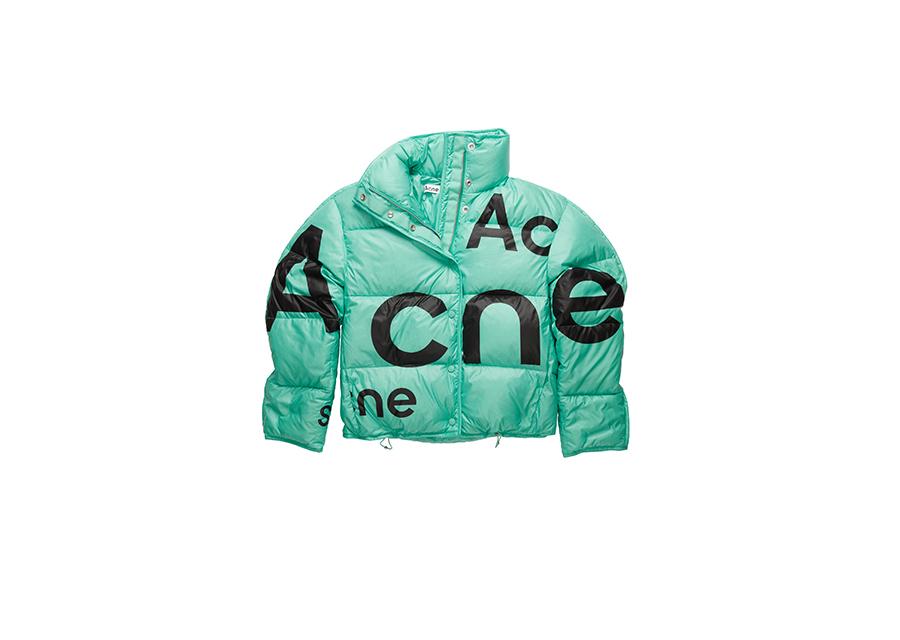 Acne Studiosからデストロイロゴプリントのパファージャケットが登場