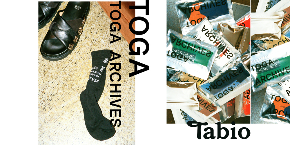 TOGA × Tabioの初コラボレーションアイテムが発売!