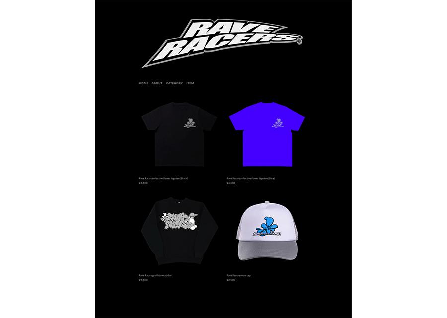 JUBEE率いるプロジェクト Rave Racersによる新曲のアー写&アパレルをお披露目