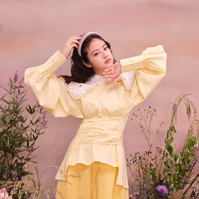 素肌に花を咲かせるようにFASIO×今田美桜が奏でる白昼夢
